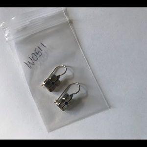 Silpada Silver Flower Lapis Stone Earrings W0511